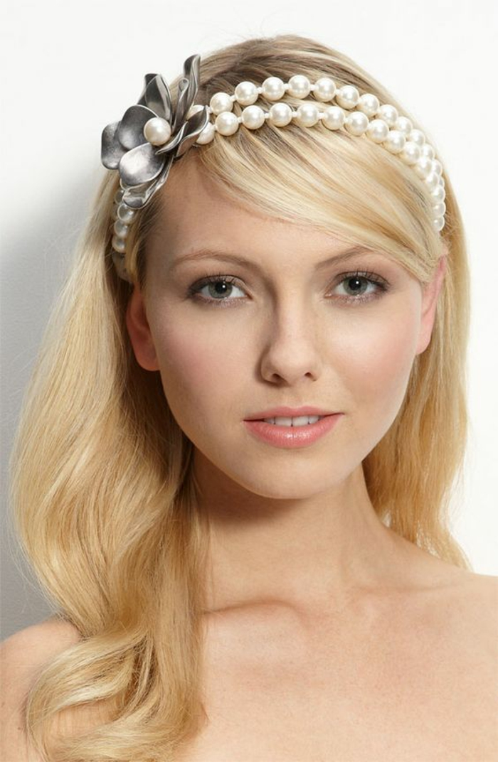 headband cheveux courts, coiffure femme mariage, coiffure mariee, idée coiffure mariage pour cheveux courts et pour cheveux plus longs