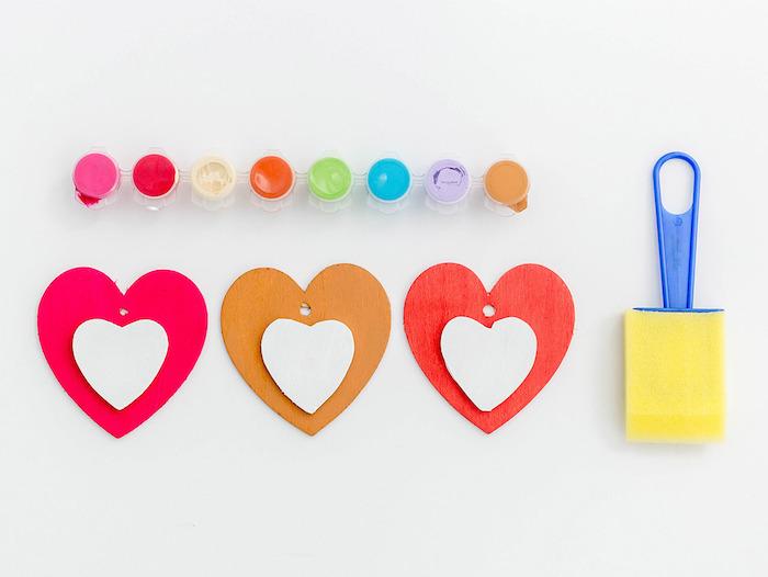 Diy simple deco faire soi meme activité manuelle printemps activite enfant activité créative coeur coloré