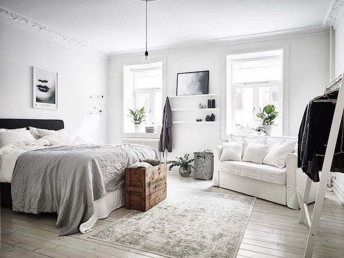 Chambre a coucher adulte moderne but lit adulte chambre a coucher adulte cool idée chambre scandinave