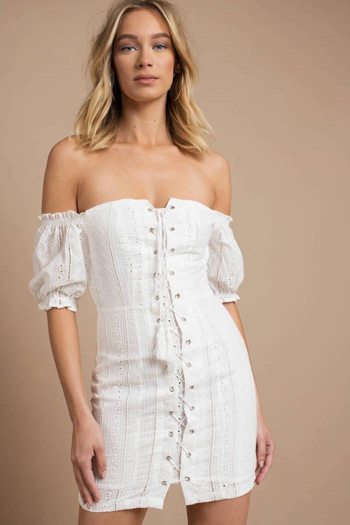 Robe boheme blanche idée robe longue blanche boheme robe bohème blanche courte robe a epaules denudees