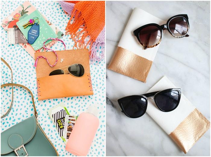 réalisez un étui à lunettes chic et élégant à offrir comme cadeau personnalisé fête des mères, bricolage fete des meres pour réaliser un joli accessoire diy