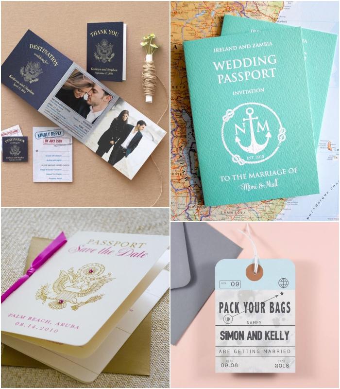annoncez la nouvelle de l'union d'une façon originale avec un faire part mariage personnalisé en passeport ou en étiquette à bagage