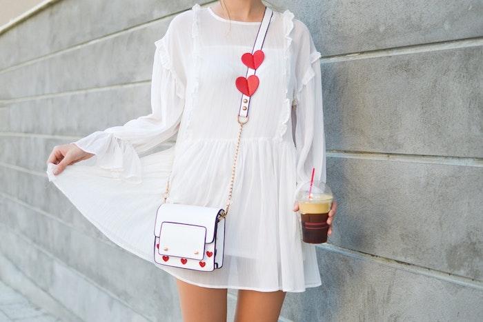Vetement boheme romantique robe longue avec manche tenue d'été robe courte chouette option pour tenue saint valentine