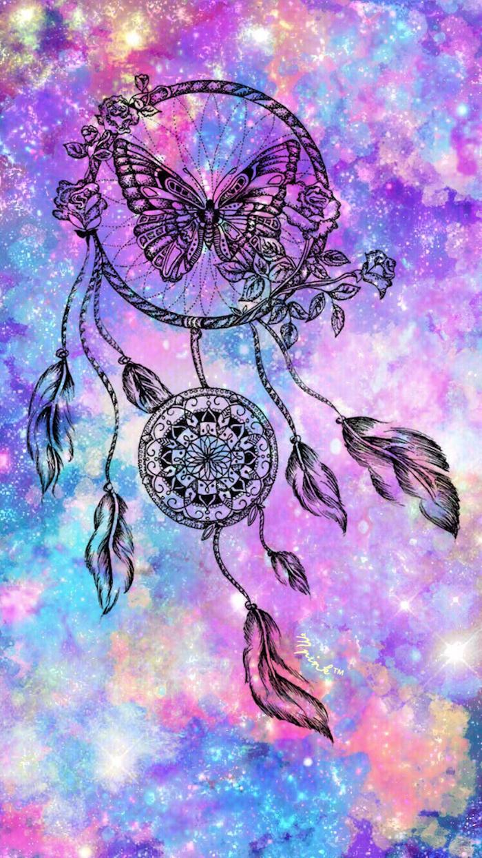 Wallpaper fond d'écran fond d'écran girly belle photographie à choisir attrape rêve galaxie inspiré