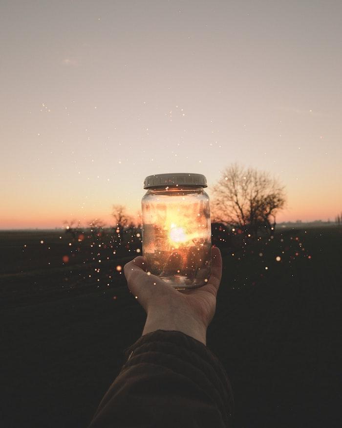Ecran de verrouillage iphone fond d'écran verrouillage image à télécharger lumières jar cool idée photo à utiliser pour votre écran