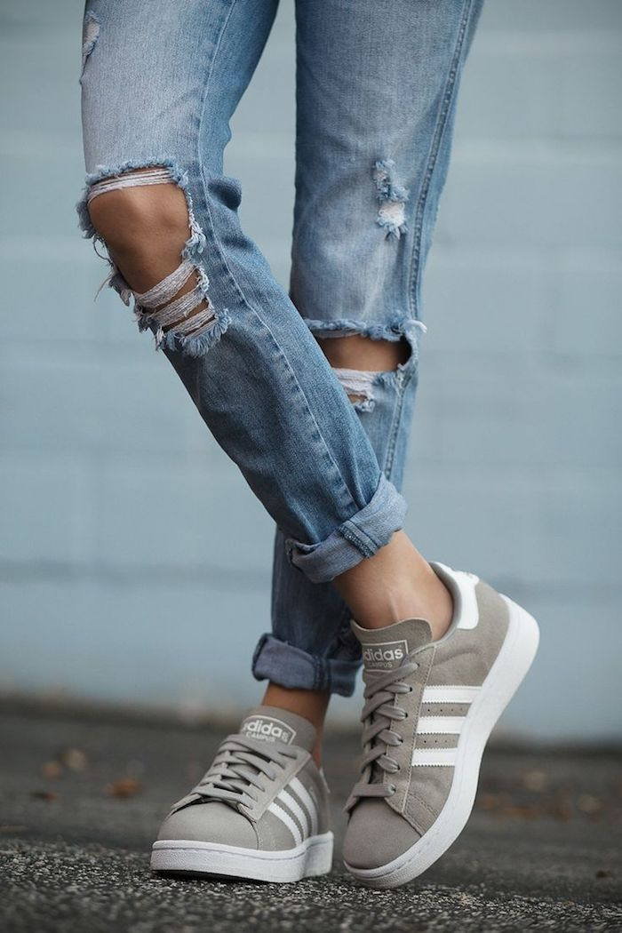 Basket valentino femme basket tendance femme etre une femme bien habillée adidas gris