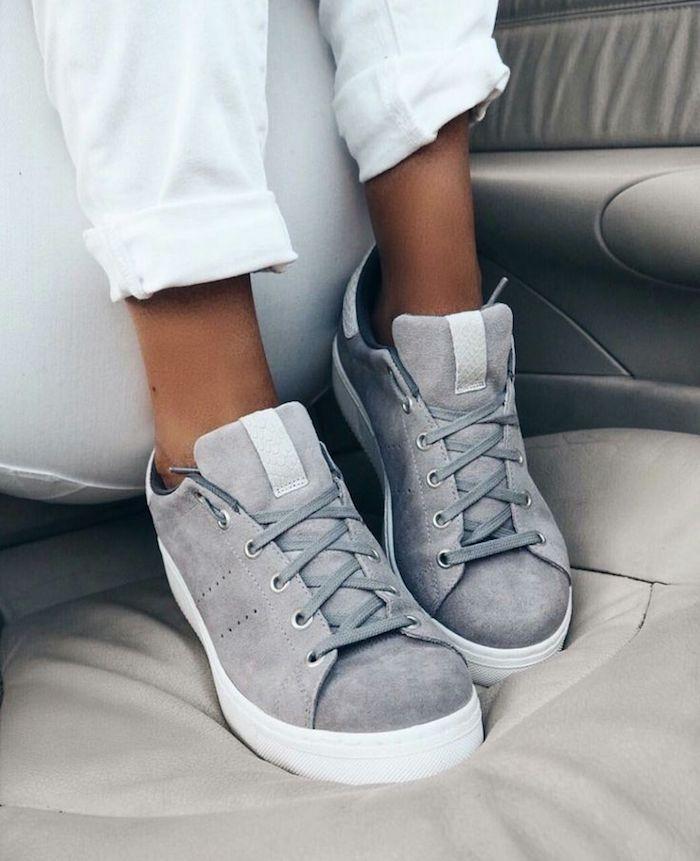 Sport basket chaussure femme s habiller avec basket tendance femme 2018 baskets gris baskets modernes