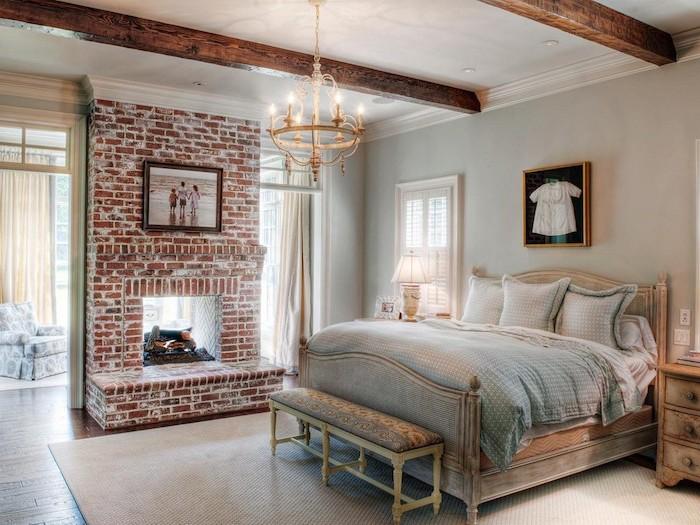 Chambre adulte complete armoire chambre adulte décoration à faire habiller un mur chambre vintage mur industriel briques décoratives