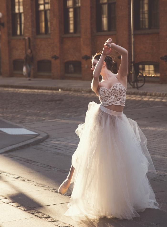 Robe blanche magnifique robe de soirée blanche choisir le style bohème chic robe magnifique en deux pièces