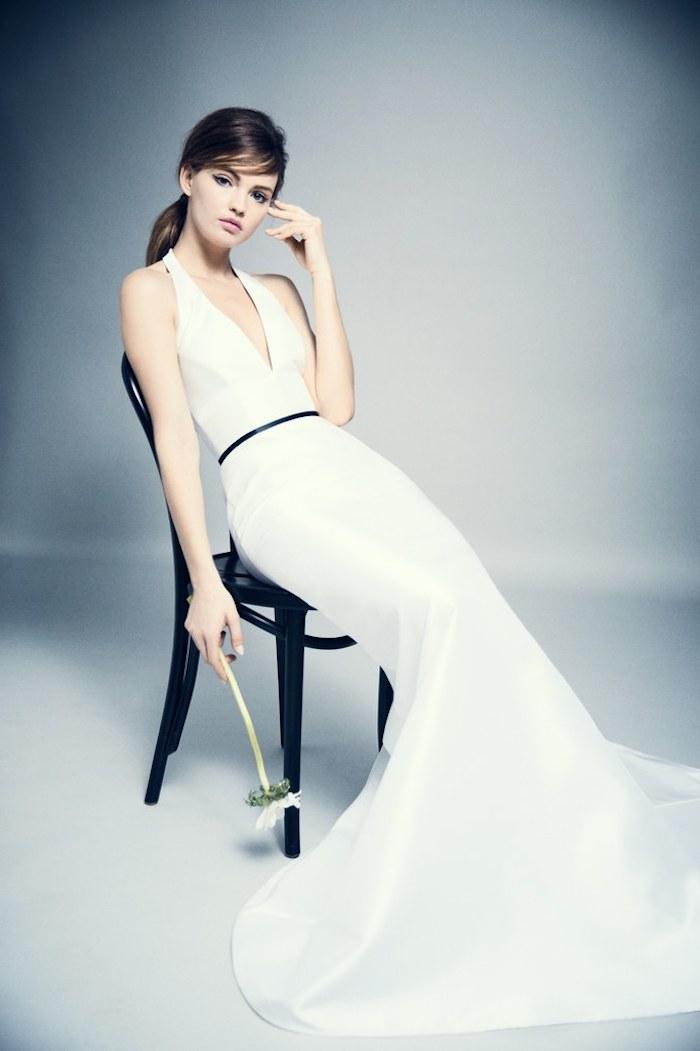 Les plus belle robe de mariée robe de mariée champagne style boheme chic moderne détail noir trends