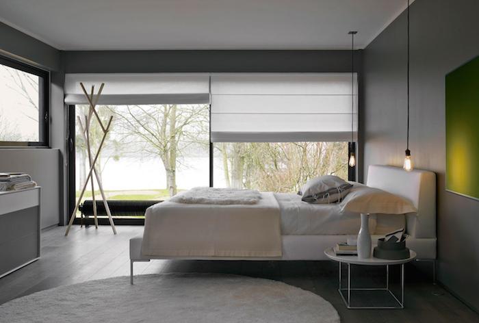 La plus belle chambre à coucher style moderne inspiration deco photo de chambre stylée blanc et vert calme