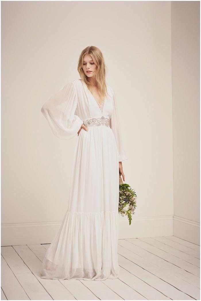 Robes de mariée 2018 quelle robe choisir pour son mariage idée romantique beauté féminine vintage manche longue robe de mariee longue avec manche longue dentelle