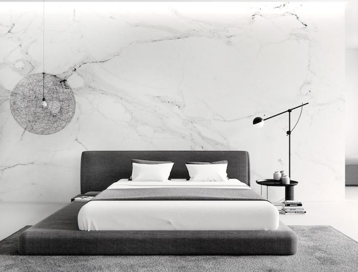 Chambre complete adulte boheme chic chambre déco arrangement parfait chambre adulte gris et blanche marbre