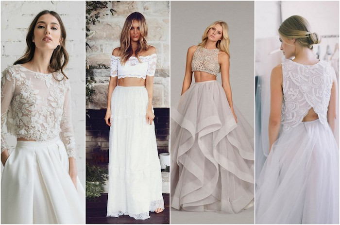 Simple Wedding Dresses Two Piece Bridal Gown 2: 1001 + Photos De La Robe Bohème Blanche Pour être En Top