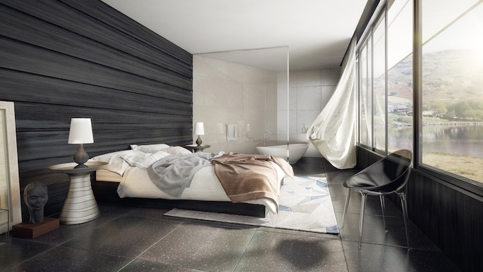 Agreable Deco Chambre Moderne Amenagement Tencance Design Contemporaine Chambre  Stylée Moderne
