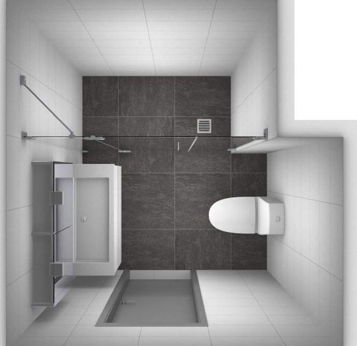 comment aménager une petite salle de bain avec carrelage et douche italienne