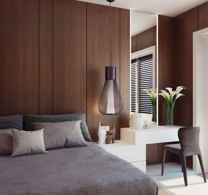 Lit commode design chambre à coucher moderne décoration de chambre bureau et chaise