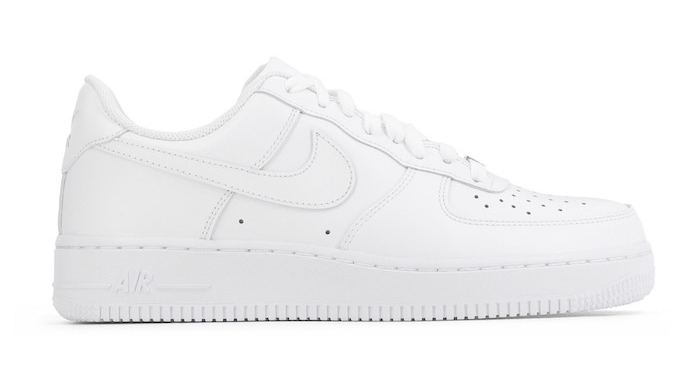 chaussures à la mode homme blanches style baskets rétro basses nike air force one 1 low