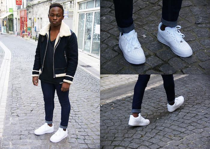 chaussure mode 2018 homme qui vont avec tout style nike air force one blanches