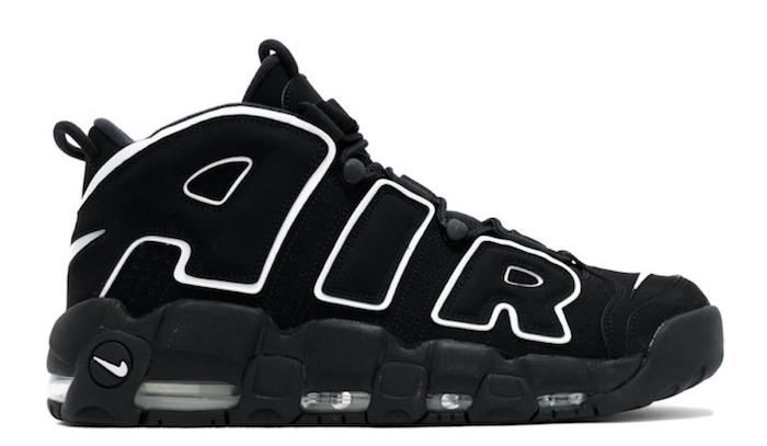 modele baskets retro tendance AIR MORE UPTEMPO noir et blanc 1996 et chaussure homme tendance