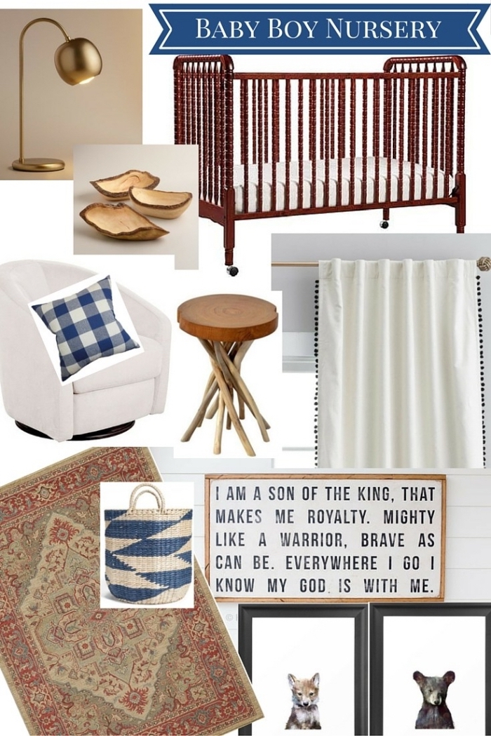 choix d'accessoires à finition cuivre et bois pour une idee deco chambre garcon de style moderne et traditionnel
