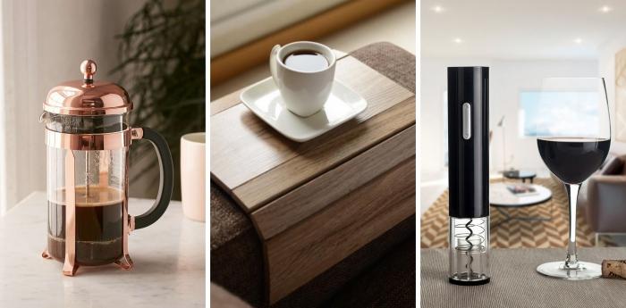 support de canapé en bois pour mettre sa tasse de café ou une ouverture de bouteille électrique pour idee fete des meres