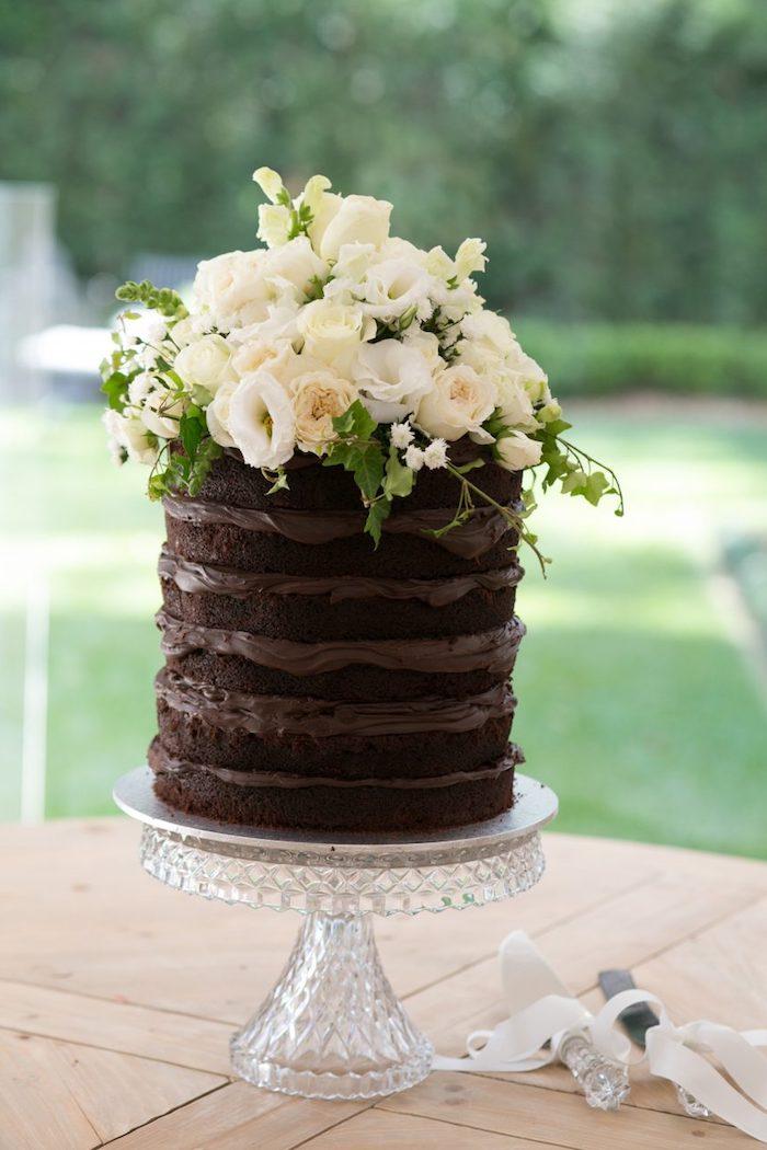 Idée quel gateau au chocolat leger pour anniversaire gateau au chocolat simple decoré de fleurs