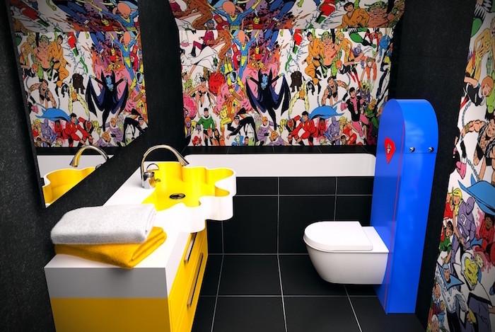 comment décorer ses toilettes de façon originale sur le thème des comics et super héros