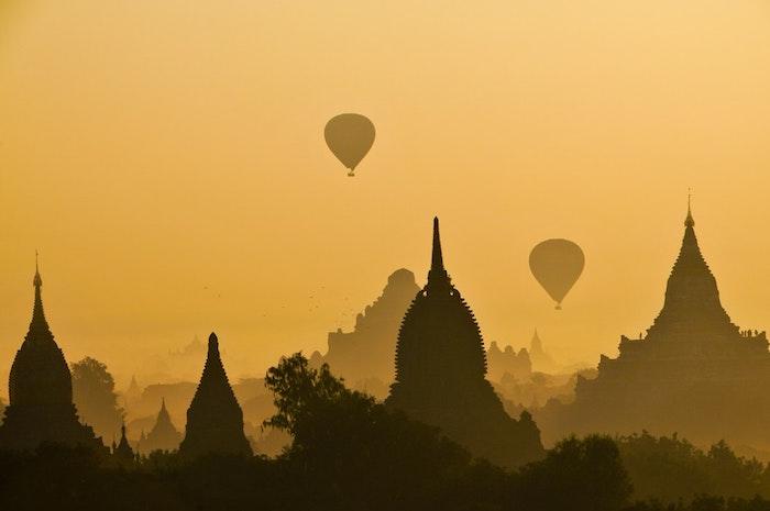 Fond d'écran macbook air fond d'écran verrouillage inspiratrice image adorable photo silhouettes des temples