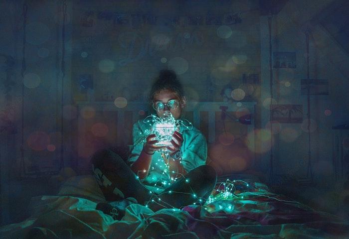Le fond ecran tumblr fond d'écran verrouillage idée téléphone écran style tumblr fille et guirlande lumineuse