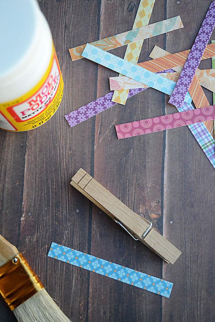 Fabriquer à soi meme idée d activités manuelles 6 12 ans activité manuelle pour ado pinces à ligne décorés de couleurs