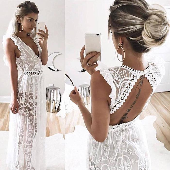 1001 photos de la robe boh me blanche pour tre en top des tendances - Tenue hippie chic ...