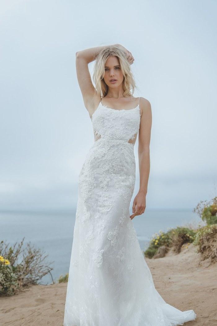 Magnifique robe de mariée champetre la robe longue de mariage elegante idée tenue mariage a la plage