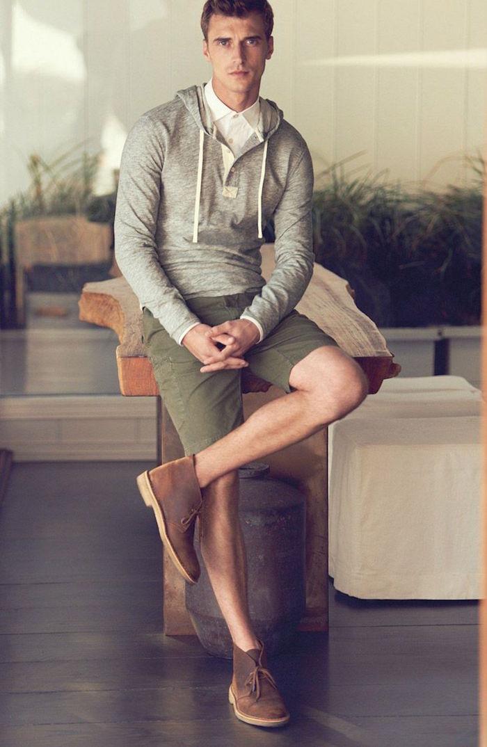 chaussures tendance homme chukka en cuir pour tenue d été à la mode