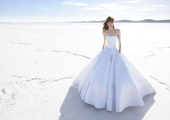 Robe de mariée 2018 princesse longue robe de mariée classe mariage photo robe magnifique