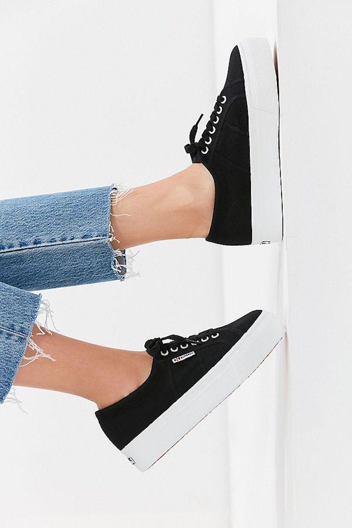 Idée basket a la mode 2018 tenue printemps tendance idée quelle chaussure porter