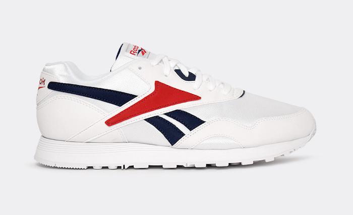 chaussure de marque homme confortable au look rétro reebok rapide og reedition bleu blanc rouge