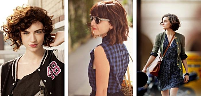 choisir une coupe carré plongeant selon la forme de son visage, comment porter lunettes de soleil à design bicolore blanc et noir