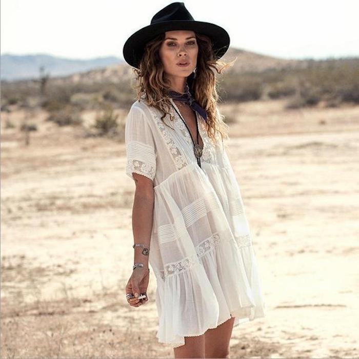 Robe blanche longue boheme cool idée robe blanche dentelle boheme robe à porter cette été
