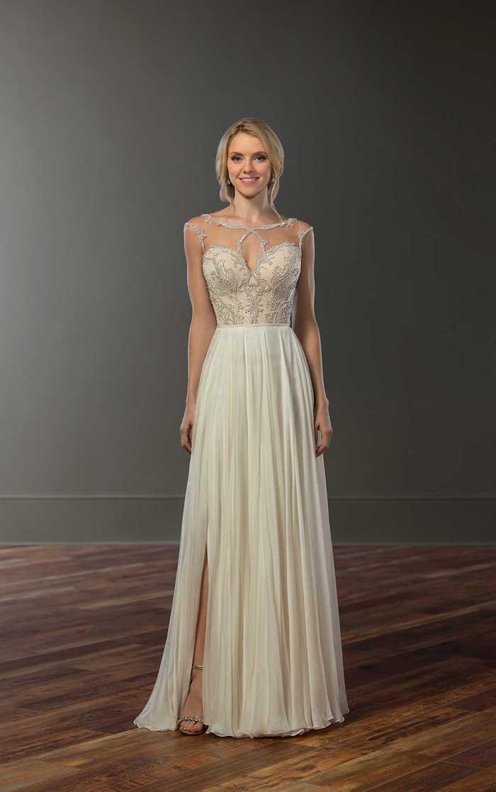 Robe de mariee hiver ou printemps robe de mariée romantique boheme chic longue chouette