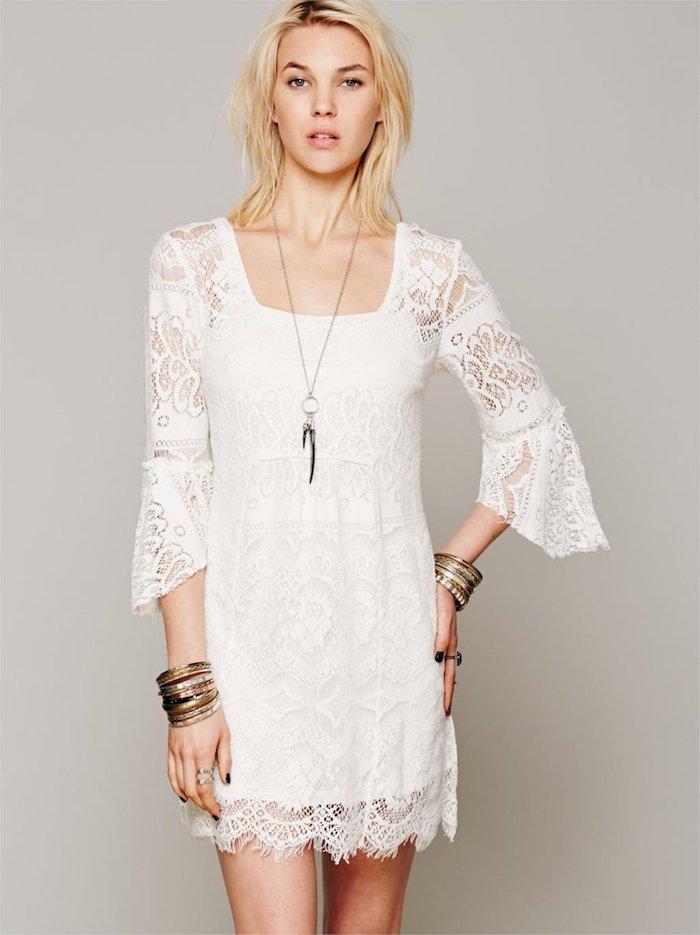 Robe bohème chic blanche robe blanche dentelle boheme choisir le blanc
