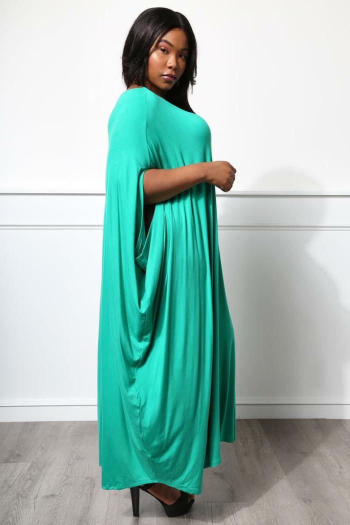 robe fluide, manches amples, robe femme pour tous les jours, tenue streetstyle femme