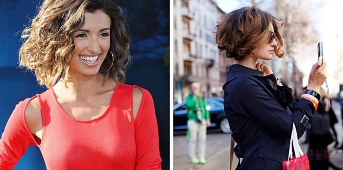 exemples de coupe de cheveux carré plongeant pour femme élégante, idée comment coiffer les cheveux courts
