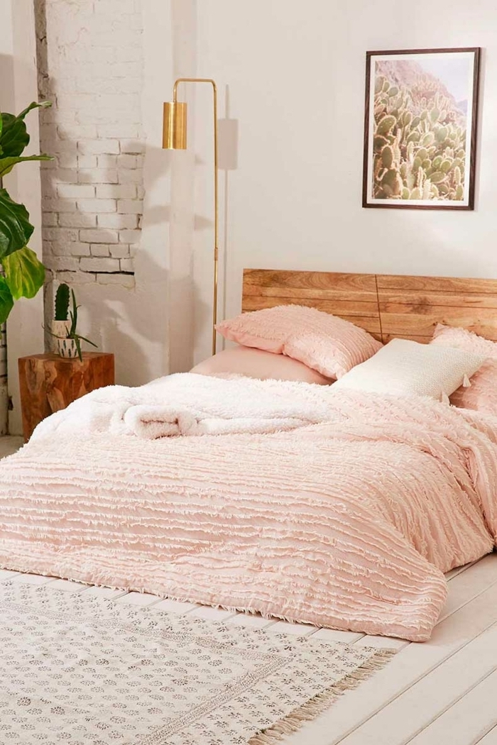 Meuble pour chambre le meuble chambre adulte scandinave simplicité moderne it ligne rose claire bois