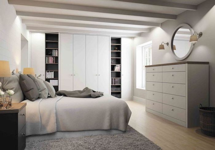 Chambre adulte complete armoire chambre adulte décoration à faire gris et blanche chambre a coucher moderne