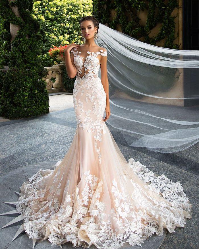 Les plus belle robe de mariée robe de mariée champagne style boheme chic moderne femme jolie