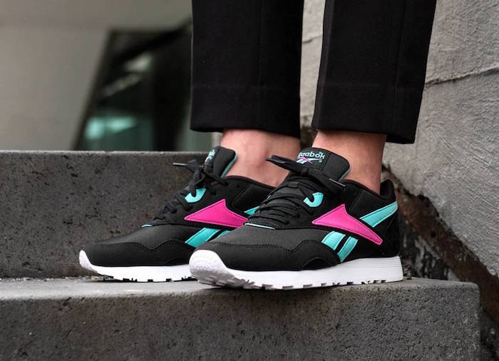 photo de reebok rapide noir rose pour chaussure stylé homme pour été 2018