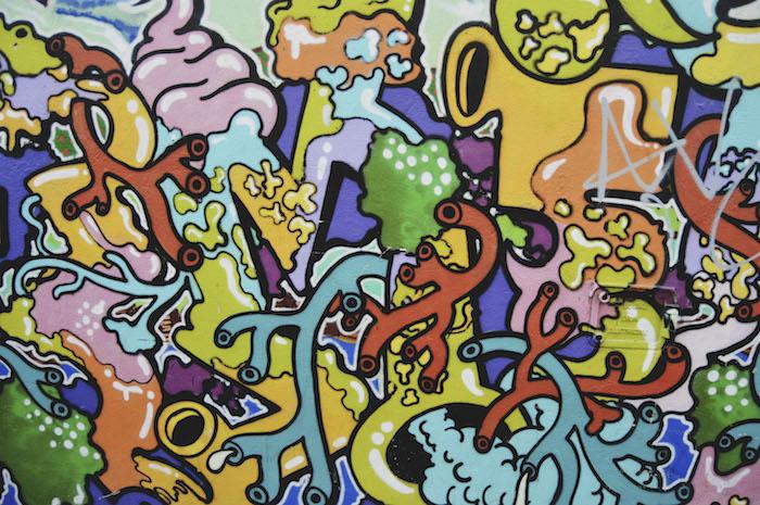 Ecran de verrouillage iphone fond d'écran pour fille citation inspiratrice art street graffiti coloré