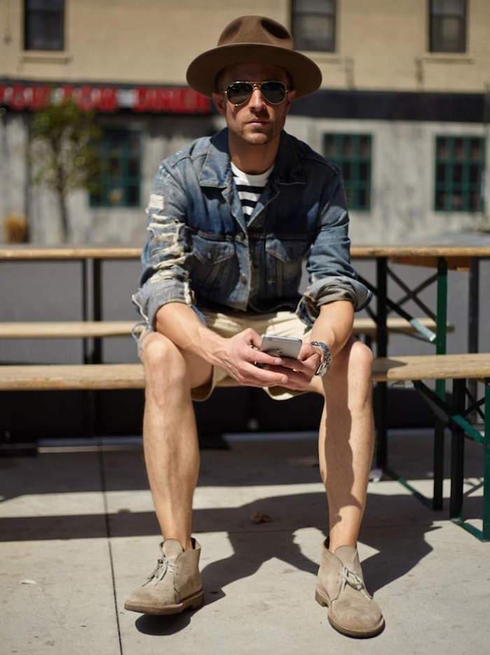 chukka beige clair en daim pour homme tendance et tenue mode desert boots