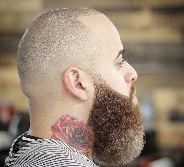 comment faire une belle barbe epaisse avec crane rasé pour chauve et barbu